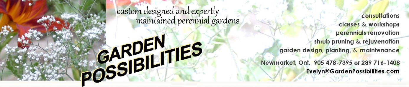Garden Possibilities Home page header.